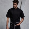 unisex black coatshort sleeve chef school coat student uniform chef jacket