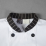 stripes collar cuff fashion cook chef jacket chef uniform