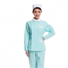 fashion design long sleeve nurse blouse + pant uniform