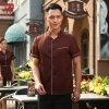 men brownbrown color coffee milk house waiter waitress shirt uniform