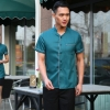 men blackish green brown color coffee milk house waiter waitress shirt uniform