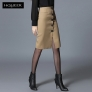 Europe design autumn winter front button  fashion skirt