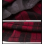 European woolen plaid mid length women skirt