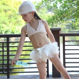 lovely swan girl swimwear