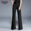 Blackultra fashion wide stripes office women flare pant