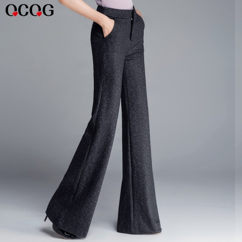 winter candy color fleece lining women straight leg pant flare pant