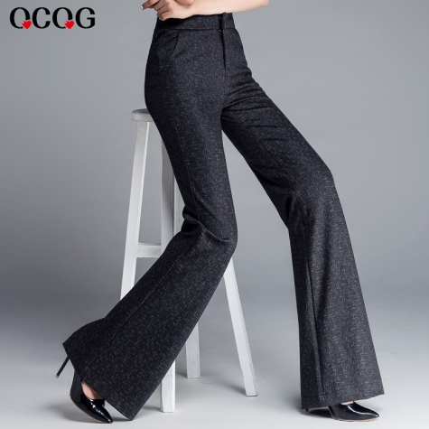 high quality grey women bib pant flare trousers