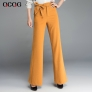 fashion high quaity Korea design office lady trousers flare pant