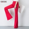 candy color women pant jeans flare pant