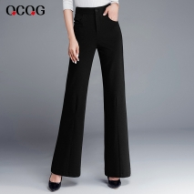 autumn winter high waist women flare pant