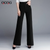 Blackautumn winter high waist women flare pant