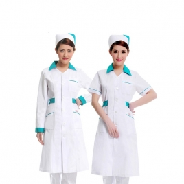 healthy career medical hairdressing drugstore coverall coat uniform JN-27