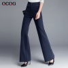 Navyautumn winter high waist women flare pant