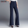 autumn  high waist women flare pant boot cut