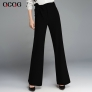 fashion bow belt flare pant for women
