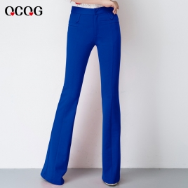 spring design bare bottom women flare pant