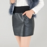 high quality PU leather women skirt