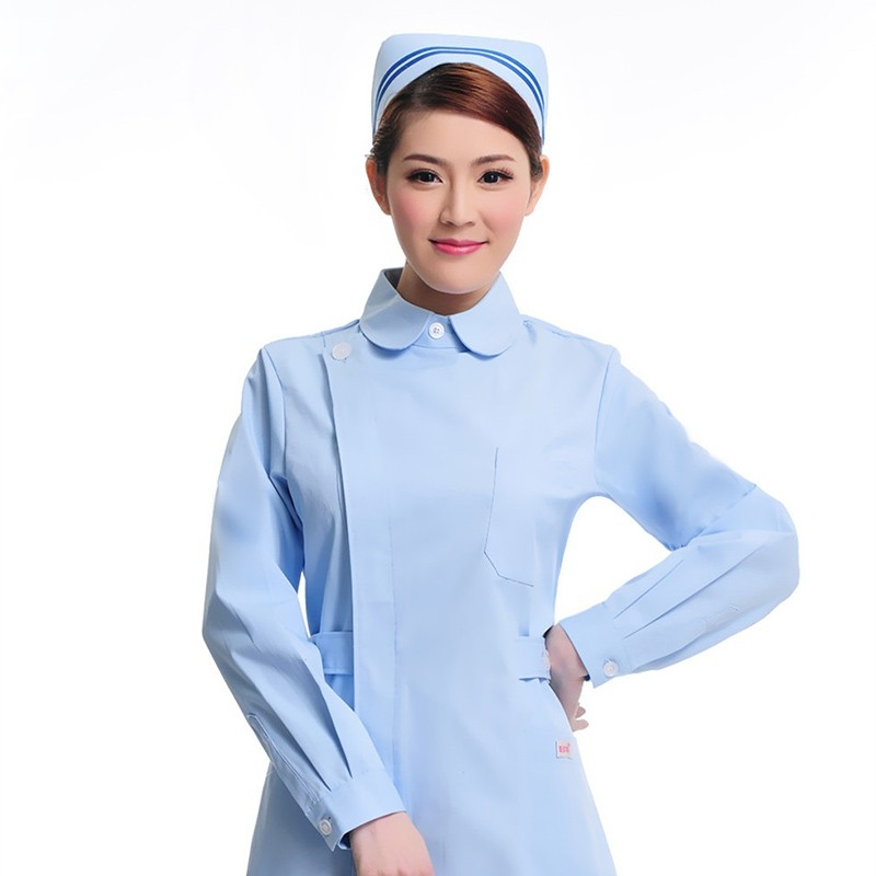 side open long sleeve peter-pan collar hospital medical ...