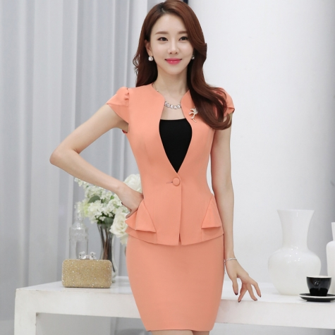 Vogue Cute Young Women Office Work Career Dressy Skirt Suit Pant