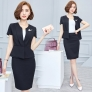 nice office style work wear skirt suits uniform for women