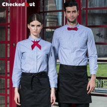 summer cheap price waiter shirt party bar pub uniform