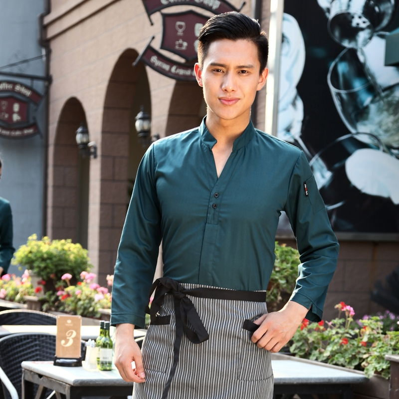 high quality hotel waiter uniforms shirt women men wait