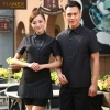 fashion fake tie short sleeve waitress uniform discount