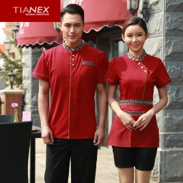 Thailand elements teahouse coffe bar waiter man uniform shirt