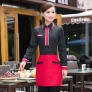 fashion V-collar design party waiter shirt  restaurant uniforms