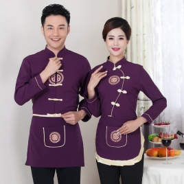summer short sleeve waiter waitress shirt uniform
