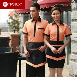 new fashion young design waiter shirt uniform