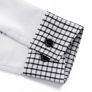 black patchwork closure bar waiter shirts cafe uniforms