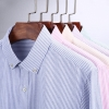 classic stripes print men shirt office work uniform