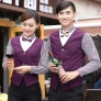 black dot hem summer waiter shirt uniforms
