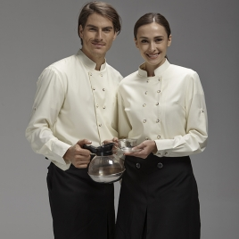 coffee bar long sleeve  waiter waitress uniforms