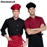 2015 fashion Europe America design short/ long sleeve stand collar men cook coat chef uniform