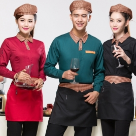 Chinese food restaurant waiter waitress blouse + apron
