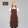 long khaki halter apronfashion restaurant food service crew housekeeping apron