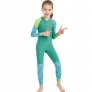 fashion zipper printing girl  boy wet suit swimwear