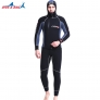 high quality neoprene thicken warm hooded men wetsuit two-piece suit