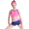 color 9two piece teen girl bikini tube top shorts