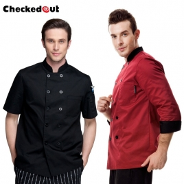 hote sale,autumn long sleeve large size Europe kitchen chef cook uniform coat