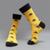 color 3casual moustache printing cotton  socks