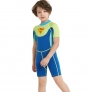 2018 new design short sleeve boy  wetsuits swimwear