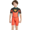 color 12018 new design short sleeve boy  wetsuits swimwear