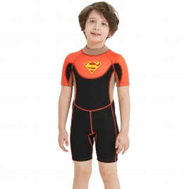 2018 Europe short sleeve boy children swimwear wetsuit