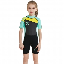 2018 fashion short sleeve girl children swimwear wetsuit sailing suit
