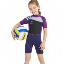 girl children  wetsuit diving swimwear