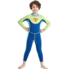 color 3long sleeve anti UV x-manta children  wetsuit swimming suit for boy teen