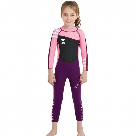 long sleeve anti UV slim fit children boy  wetsuit swimming suit